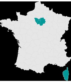 Carte Ile de France - Larmotec