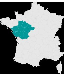 Carte Pays de la Loire - Larmotec