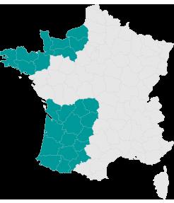 Carte Sud Ouest - Larmotec